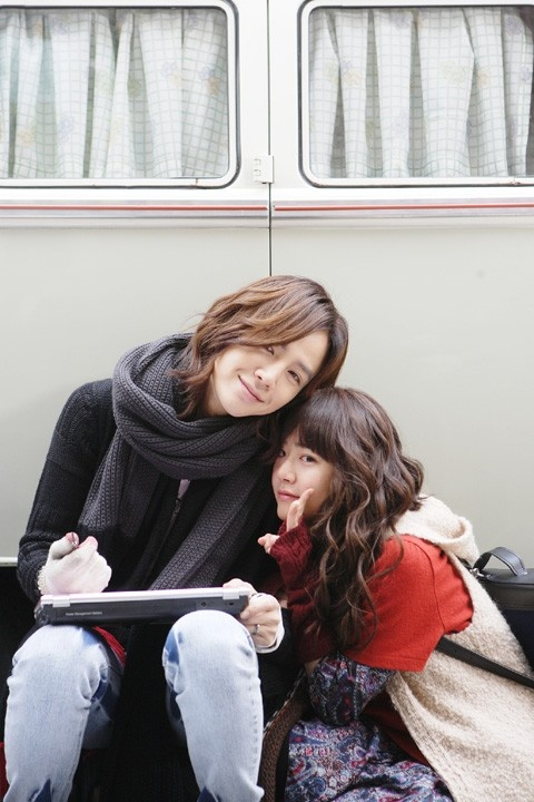 Jang Geun Suk and Moon Geun Young on set of 'Mary Stayed Out All Night'