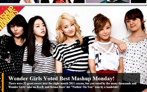 "Wonder Girls #1 on Billboard's ""Mashup Mondays of 2011"""