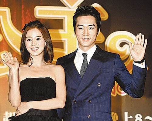"Song Seung Hun and Kim Tae Hee Promote ""My Princess"" in Taiwan"