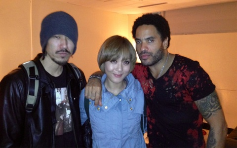 miss A's Min, Tiger JK and Yoon Mirae Tweet Pictures with Lenny Kravitz