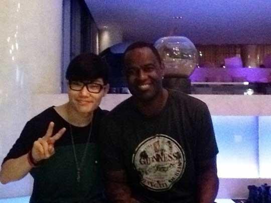 Kim Bum Soo Reveals Photo Taken with Brian Mcknight!