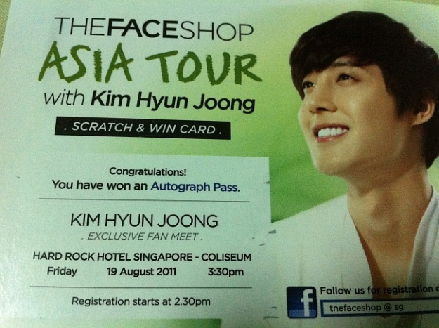 "Kim Hyun Joong to Hold ""Summer Time"" Fan Meeting in Singapore"