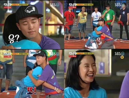 Gary and Song Ji Hyo Share a Hug
