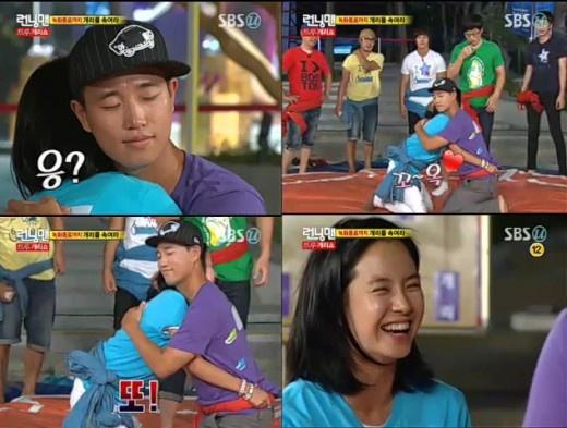 Gary and Song Ji Hyo Share a Hug