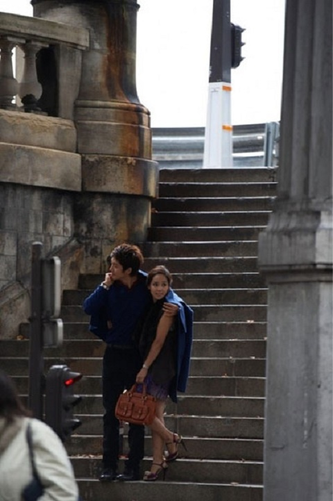 Newlyweds Eugene and Ki Tae Young Spotted in Paris