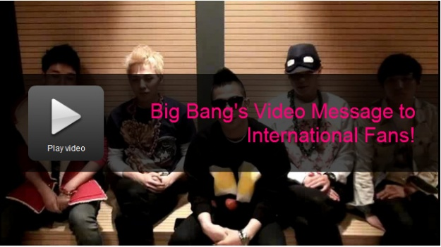 [Only Soompi] Big Bang's Video Message to International Fans!