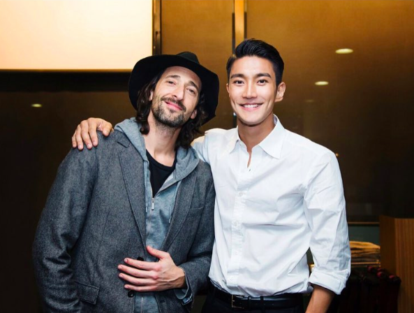 Siwon (Super Junior) f... Adrien Brody Instagram