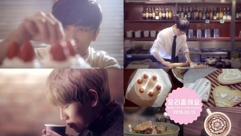 """K.Will, JunggiGo, Jooyoung et BrotherSu vous souhaitent une bonne Saint Valentin avec le MV de """"Cook For Love"""""""