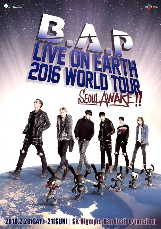 "B.A.P anuncia en 2016 la gira mundial ""LIVE ON EARTH"""