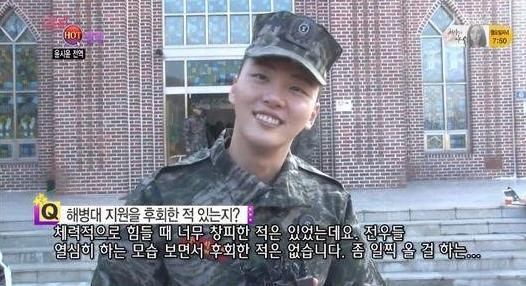 Yoon Shi Yoon dice que no se arrepiente de unirse al Cuerpo de Marina