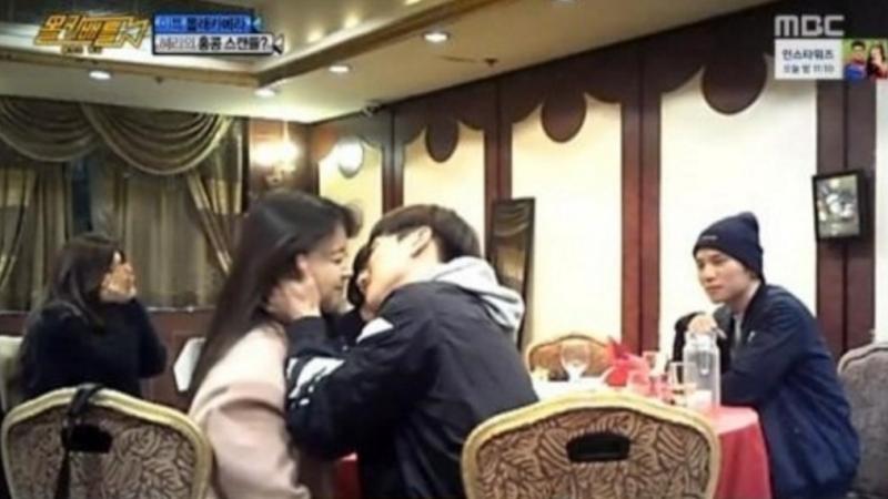 Leeteuk de Super Junior besa a Minah de Girls' Day para jugarle una broma a Hyeri