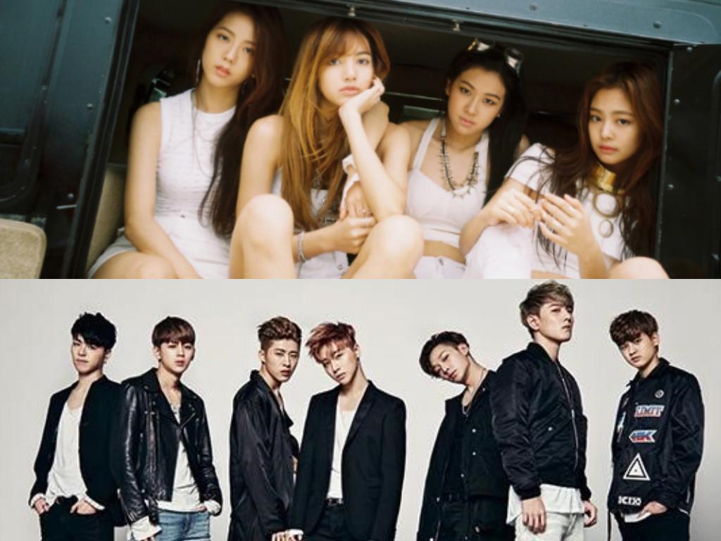 La combinación de logos de Black Pink y iKON hará que YG les deje impresionados