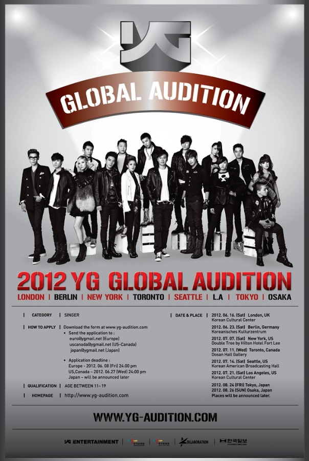 YG Entertainment to Hold Global Audition in 5 Different Countries North American Deadline on June 27