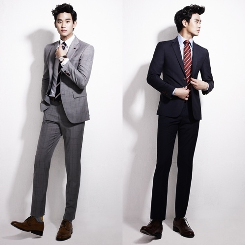 Kim Soo Hyun Looks Sensible and Witty in ZioZia Suits