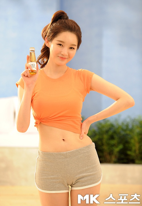 Kang Min Kyung's Sexy Bodyline Earns Her a CF Spot with Health Drink