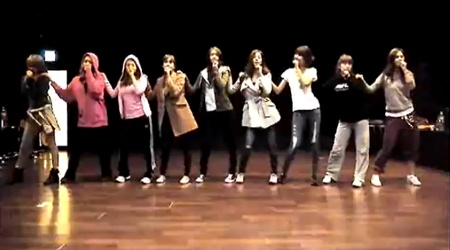 "SNSD's Dance Practice For ""My Best Friend"""