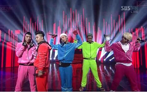 """Big Bang Performs """"Fantastic Baby"""" and """"Bad Boy"""" on Inkigayo"""