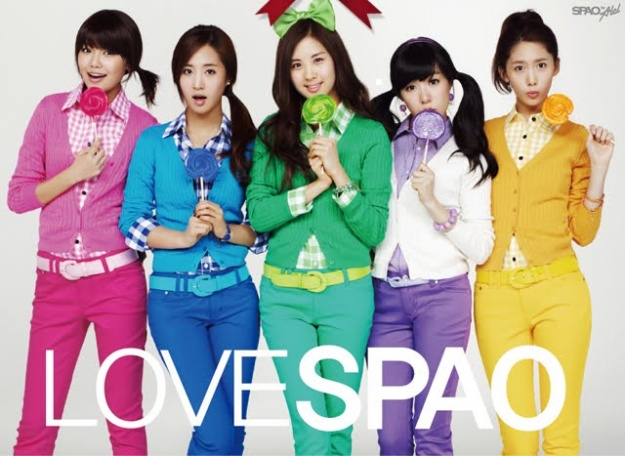 SNSD Promotion Pictures for Spao