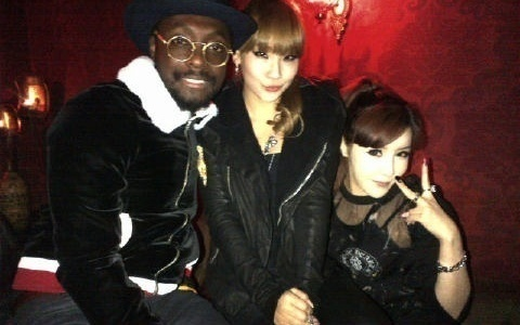 2NE1 Plays New Song by Will.I.Am at a Club in Seoul?