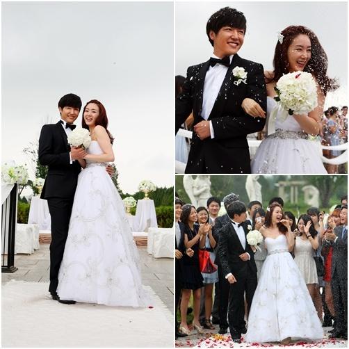 Choi Ji Woo and Yoon Sang Hyuns Wedding Pictorial Arouse