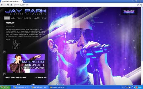 Jay Park Opens Official Website