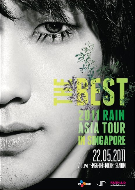 Rain Returns to Singapore for The Best 2011 Rain Asia Tour