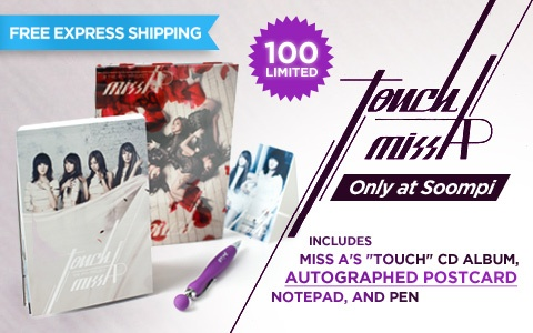 "[Soompi Shop] Announcing miss A Autographed ""Touch"" Package!"