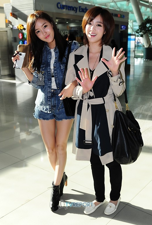 """T-ara's Hyomin and Eunjung Depart to Thailand for """"Global Super Idol"""""""