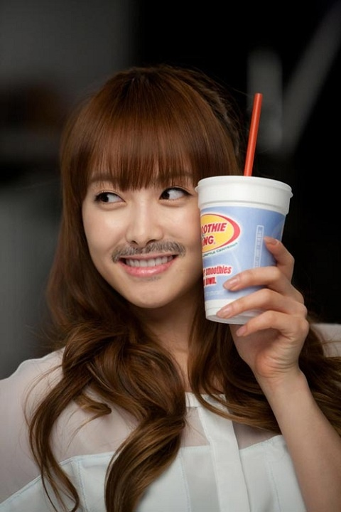 SNSD Tae Yeon, f(x) Krystal, and Others with Mustaches?!