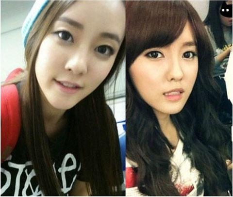 T-ara's Hyomin, Rainbow's WooRi Separated at Birth?