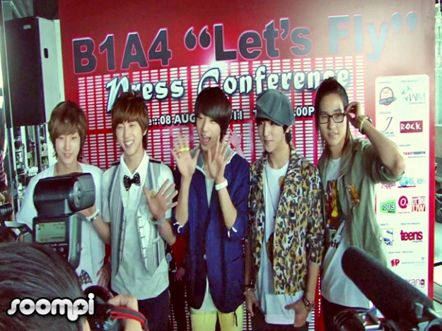 "B1A4's ""Let's Fly"" Singapore Press Conference"