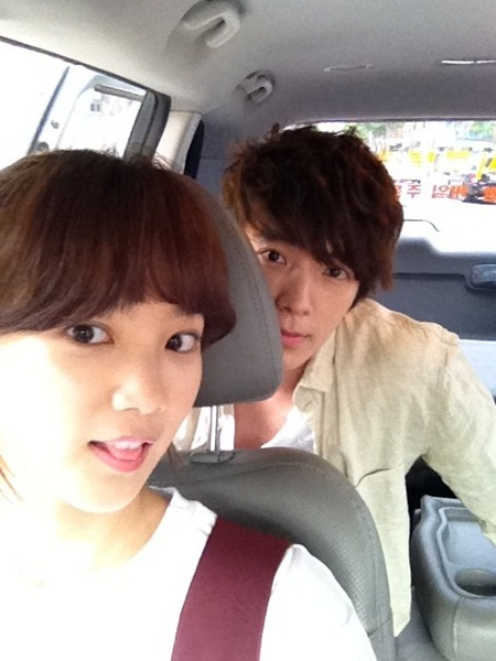 Donghae and Yoon Seung Ah