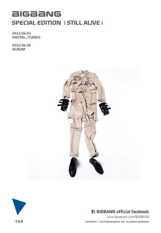 """Big Bang Unveils T.O.P's Teaser Image for """"Still Alive"""""""