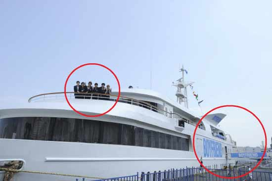 Boyfriend Holds a Press Conference in Japan Aboard a Cruise Ship
