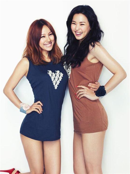 Lee Hyori Looks Flat Next to Honey Lee?