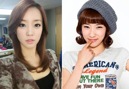 Rainbow's Go Woori and Kim Ji Sook Pose in Baseball Uniforms
