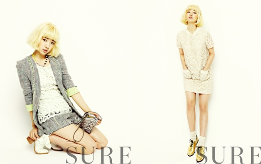 """Park Shin Hye Goes Blonde for """"Sure"""""""