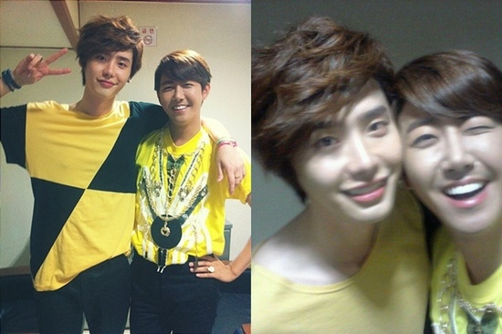 Lee Jong Suk Shows Off Friendship with ZE:A Kwanghee