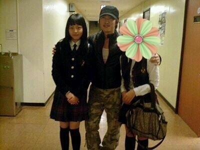 Goo Hara Jang Dong Min Old Gag Concert Backstage Photo