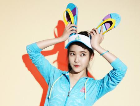 IU as a Summer Fairy for Le Coq Sportif