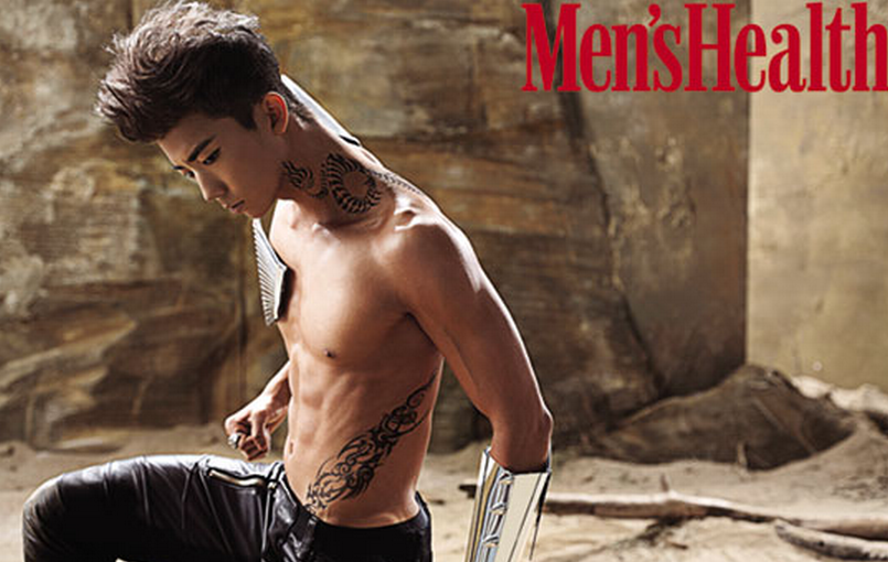 """2PM's Wooyoung Awarded Best Cover Model for """"Men's Health"""""""