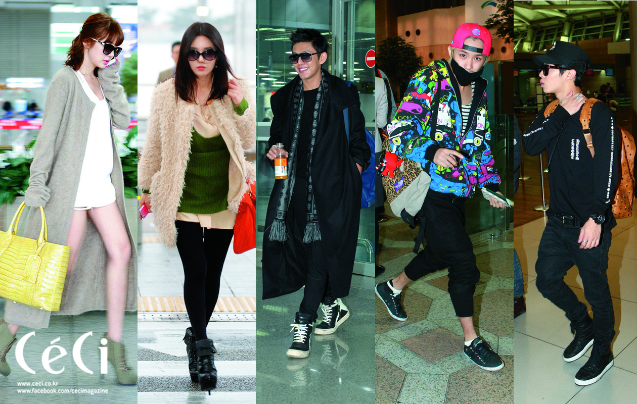 """[Ceci] Celebrity Airport Fashion's """"IT"""" Item: ft. Yoon Eun Hye, FT Island, BEAST & More"""