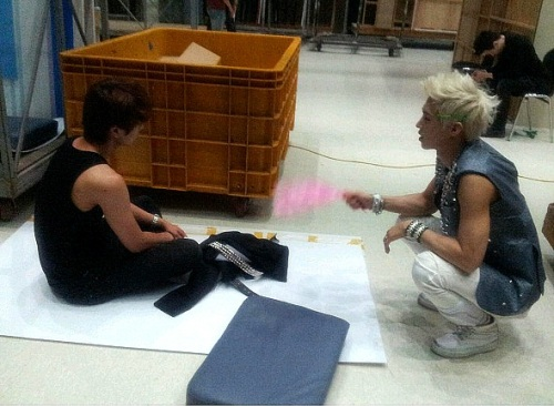 A-JAX's Leader Hyeong Gon Shown Fanning a Dancer