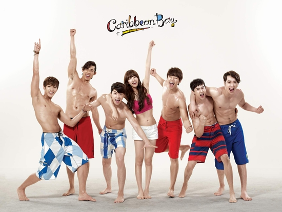 2PM and miss A's Suzy Show Off Perfect Summer Bodies in New Caribbean Bay CF