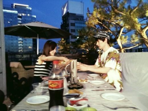 Super Junior's Eunhyuk and Girls Generation's Seohyun Look Awkward at Birthday Party