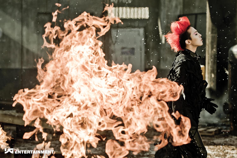 flaming hair g-dragon