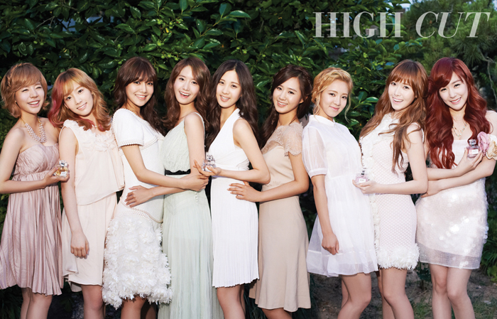 "Girls' Generation Become ""Fairies in the Woods"" for High Cut Magazine"