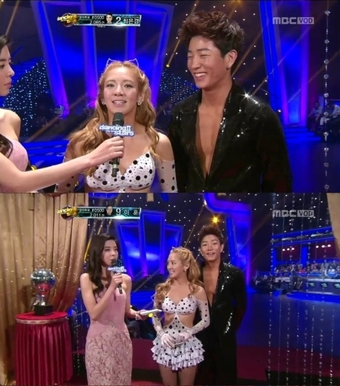 "Girls' Generation Hyoyeon Catches Eyes with Revealing Dress on ""Dancing With the Stars"""
