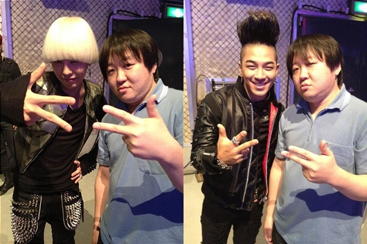 G-Dragon and Taeyang Take a Picture with Jung Hyung Don's Japanese Doppelganger?