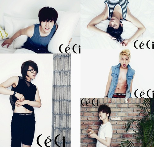 B1A4 Bedroom Photo Shoot for CeCi Magazine